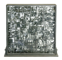 &quot;Circumstance&quot; steel and glass sculpture 2007 by Louis Delegato